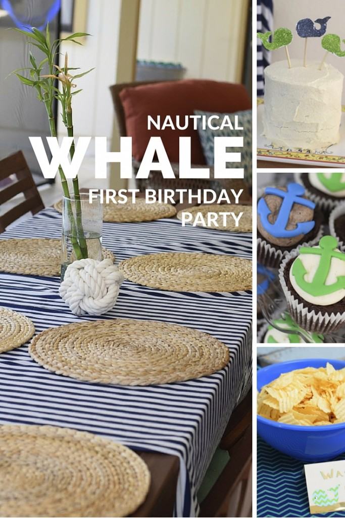Nautical Whale Themed First Birthday Party